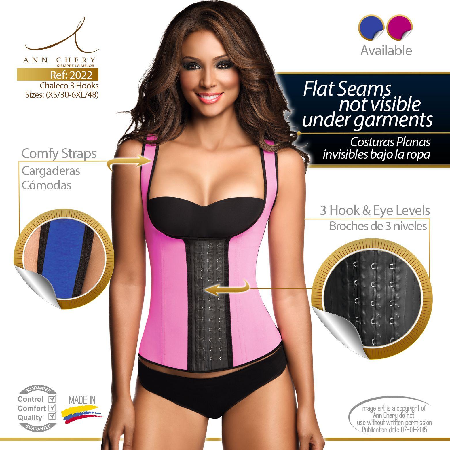 dd7664ed287 Ann Chery 3 Hook Long Deportiva Sport Latex Vest Body Shaper