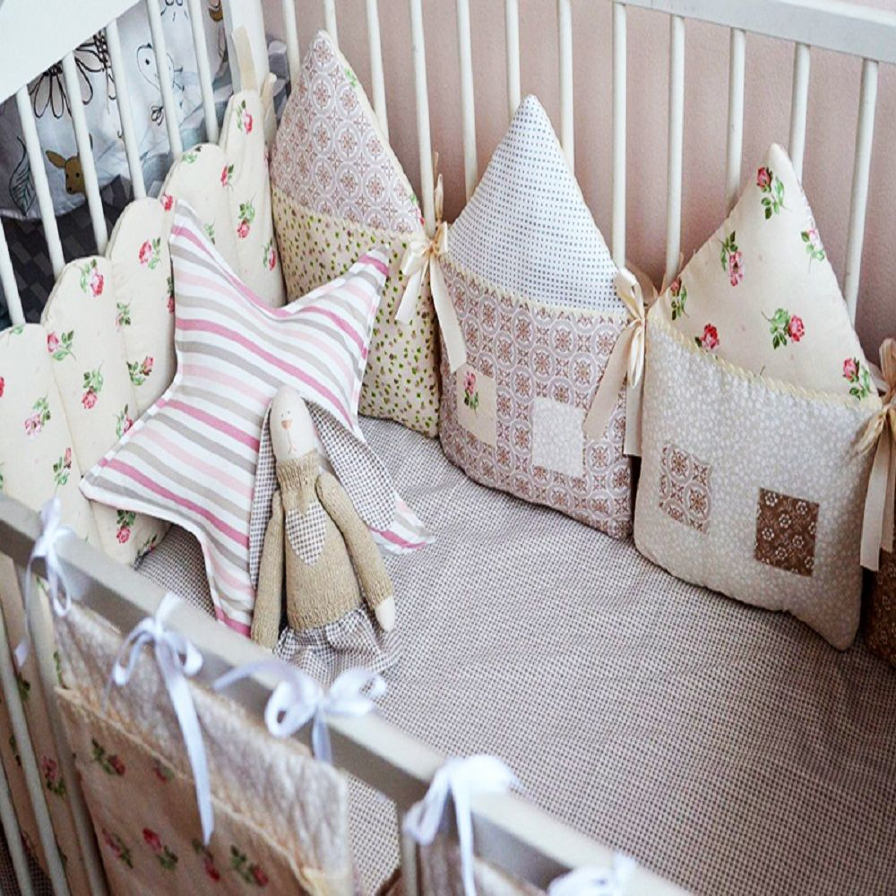 Бортики в кроватку для новорожденных своими руками ...