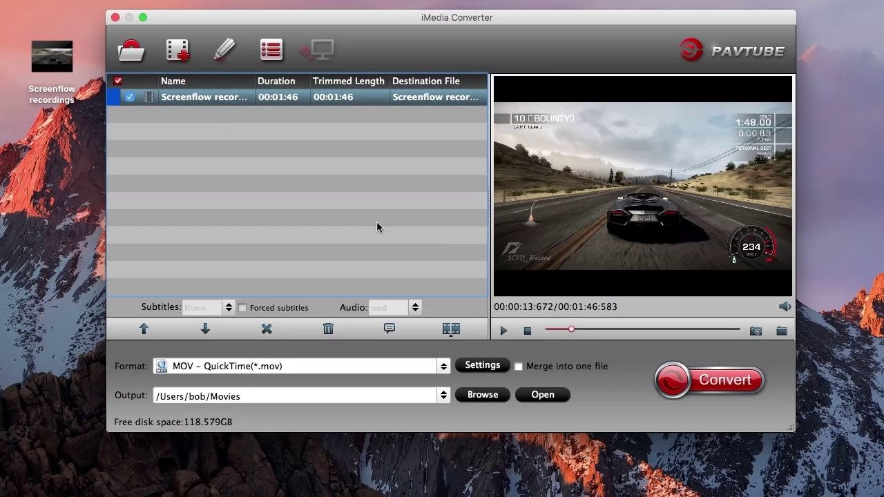 Convert screenflow recordings to mp4 avi mov on mac