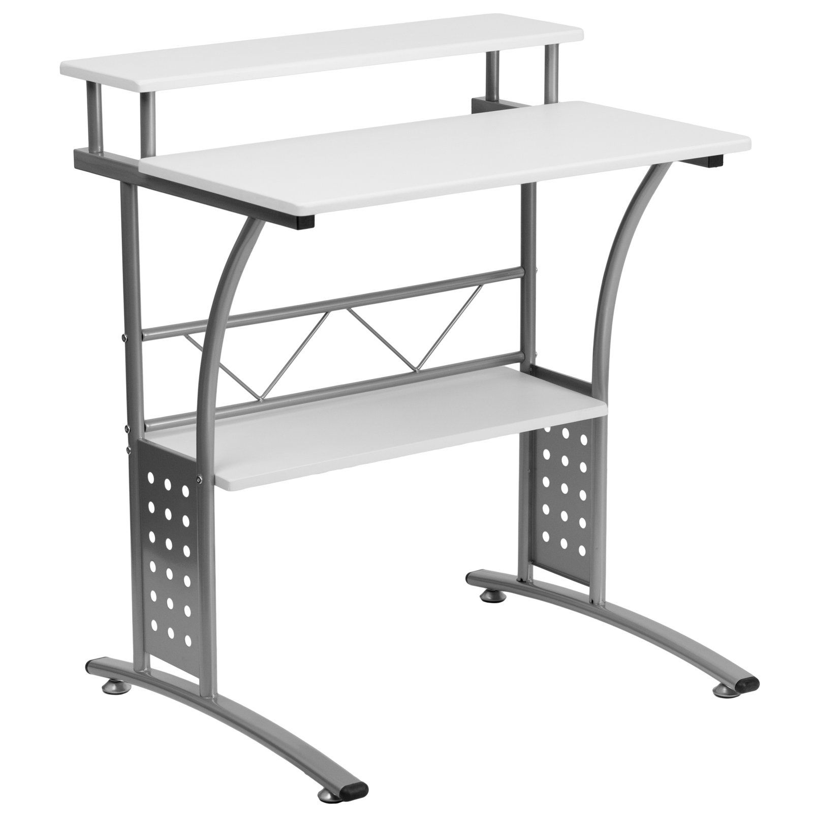 flash furniture clifton white computer desk in 2019 products rh pinterest com