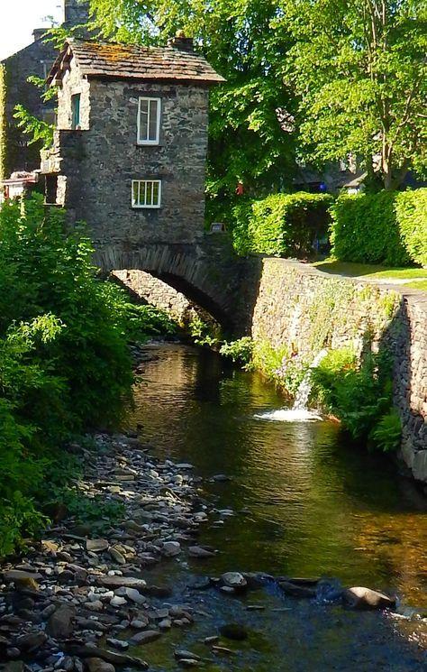 Ambleside, Lake District, Cumbria, England, UK Bridge