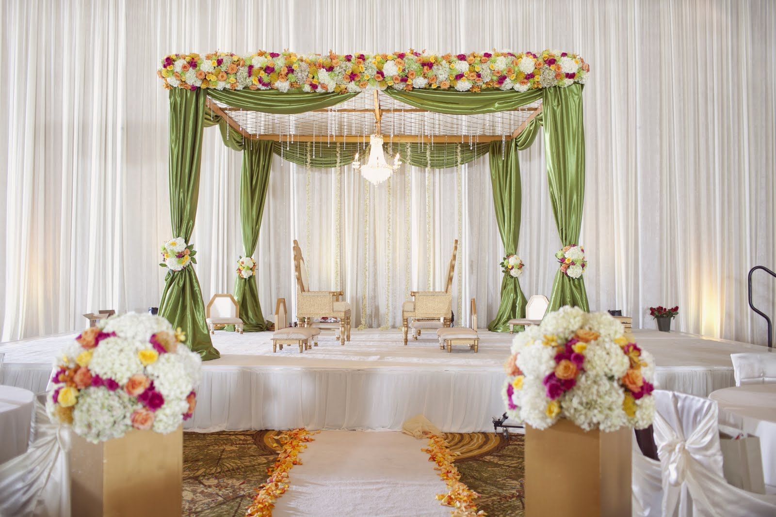 Indian Wedding Mandap Decoration With Flowers Ideas Pictures Latest Fashion Trends In India