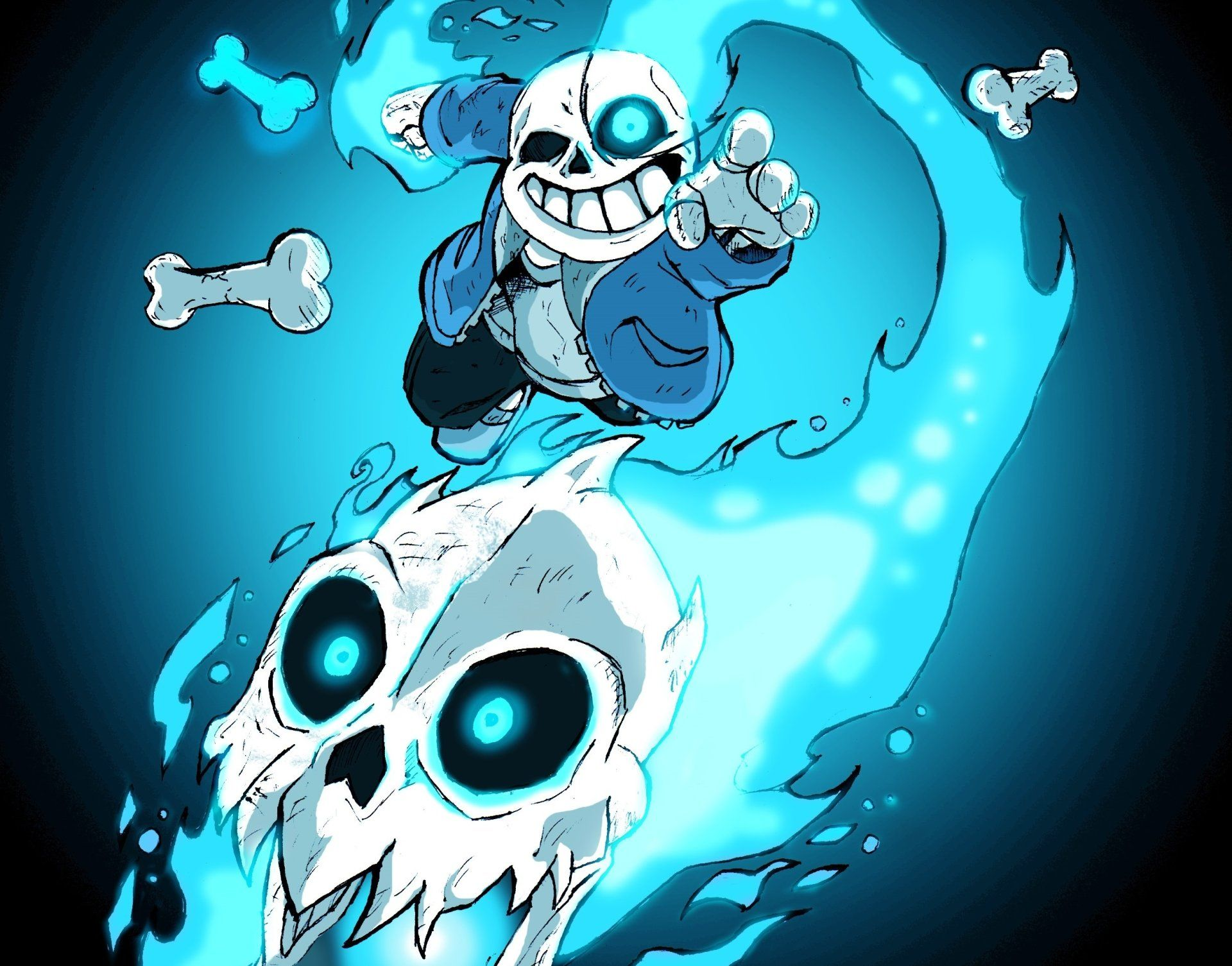 undertale sans and frisk undertale images Sans listening