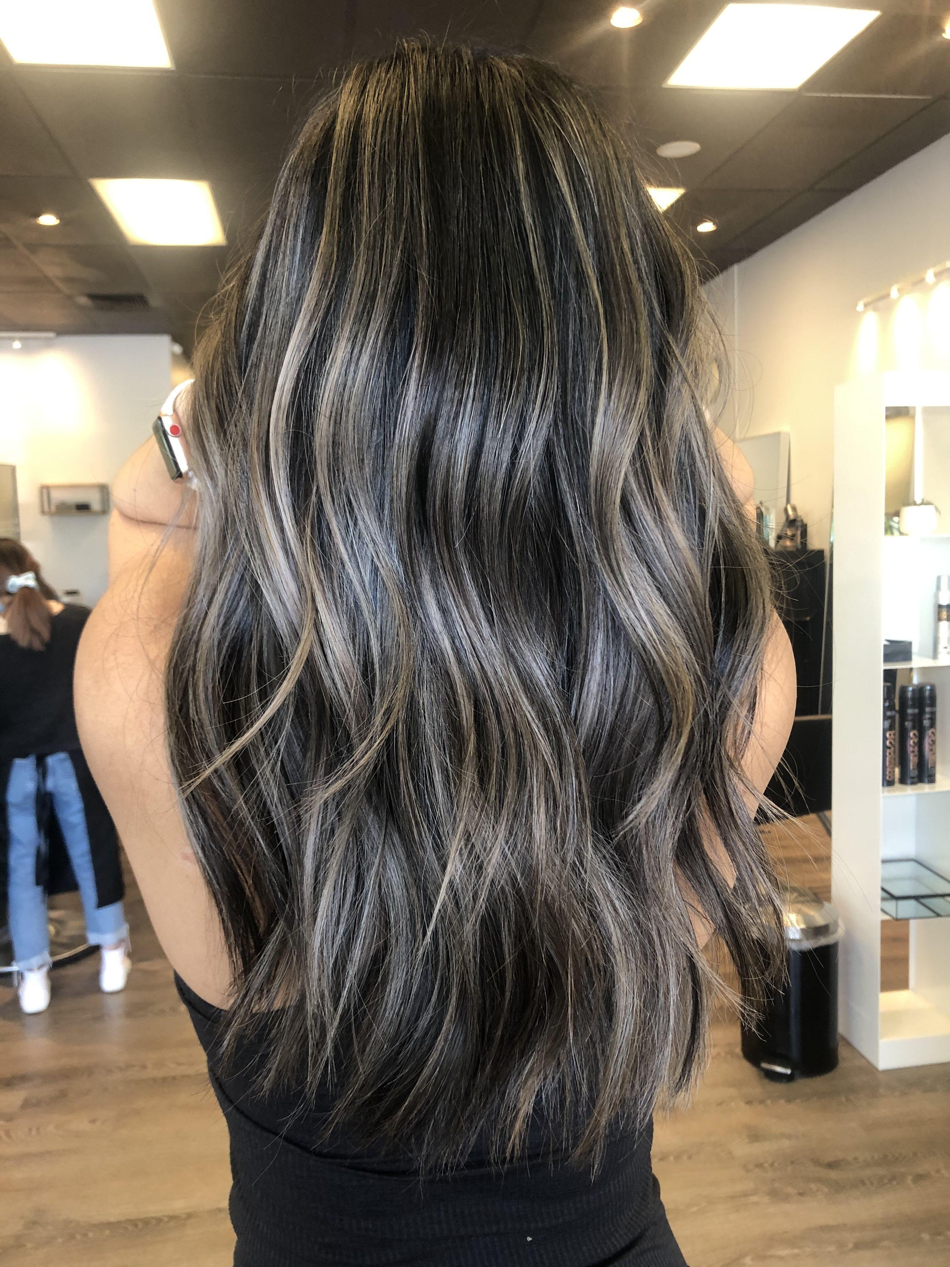 Ash Brown Balayage Hair Color For Black Hair Brown Hair Balayage Ash Brown Hair Balayage