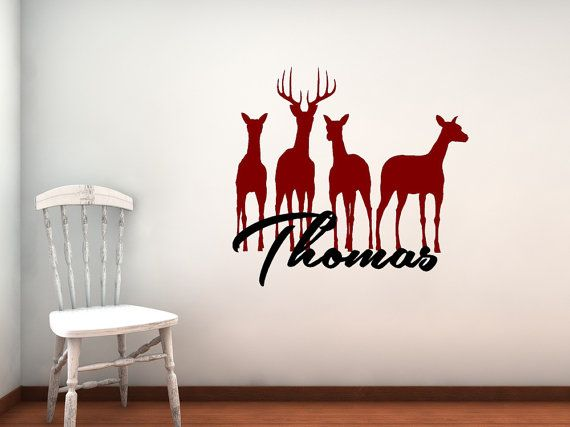 Steed Buck Wildlife Deer Personalize Custom Boy Girl Name - Custom vinyl wall decals deer