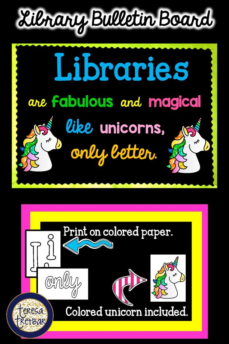 Library Bulletin Board ~ Libraries are Fabulous and Magical | ***TpT ...