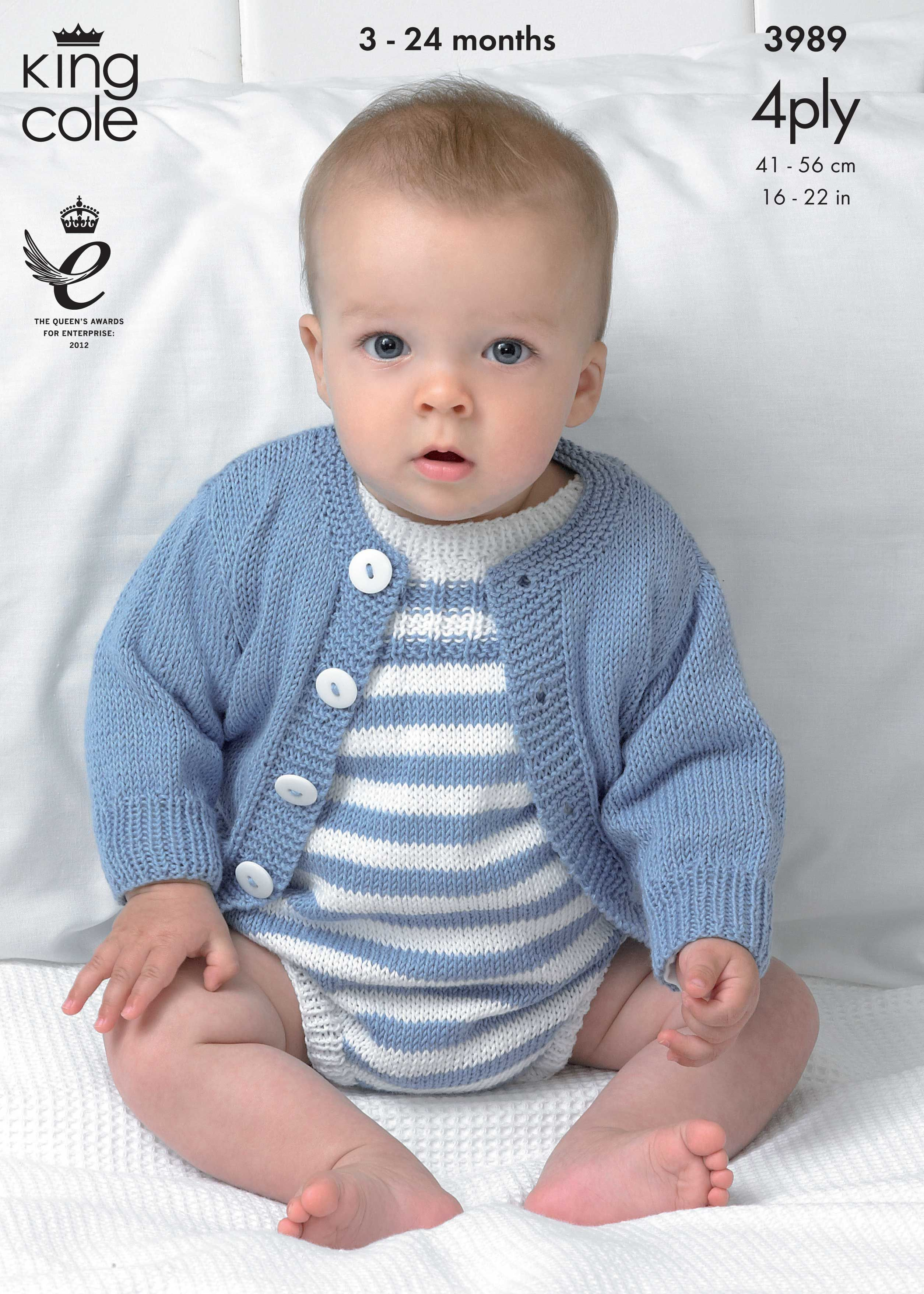 Cardigans and Romper Suit Knitted with Bamboo Cotton 4Ply ...