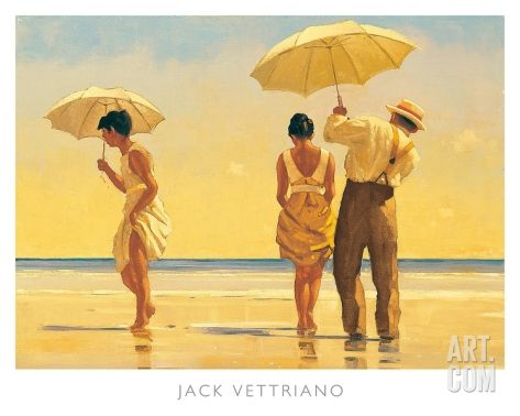Mad Dogs Art Print by Jack Vettriano at Art.com