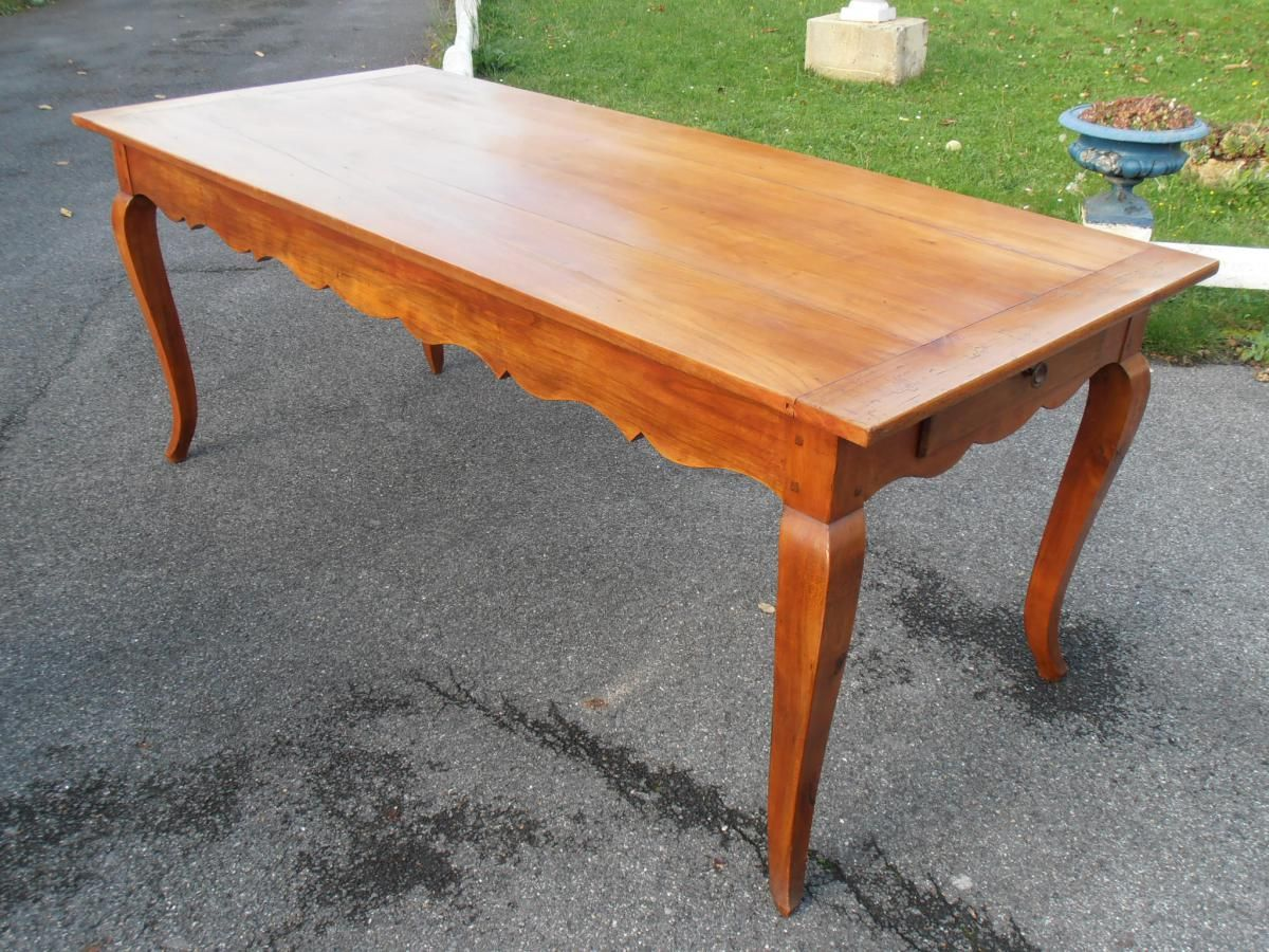 Table De Ferme De Style Louis XV En Bois De Merisier.   Tables ...