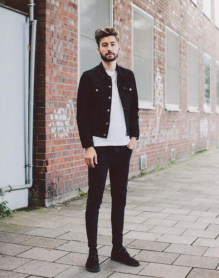 Christoph Schaller Levi S Levis Trucker Jacket How Many Secrets Can You Keep Lookbook Men Mens Fashion Denim Denim Jacket Men Outfit Mens Street Style