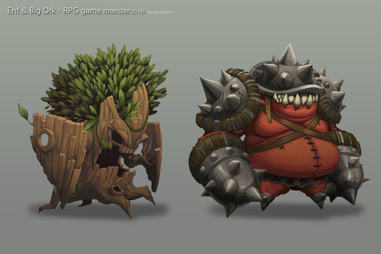 Ent Ork Robin Jeong Creature Design Monster Design Graphic Design Fun