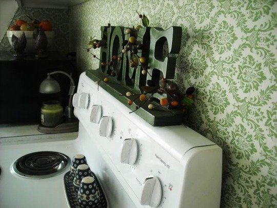 A Backsplash Solution for Rental Kitchens: Fabric Under ...