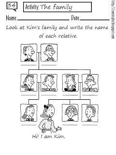 ficha para repasar el vocabulario sobre la familia  Enseanza de