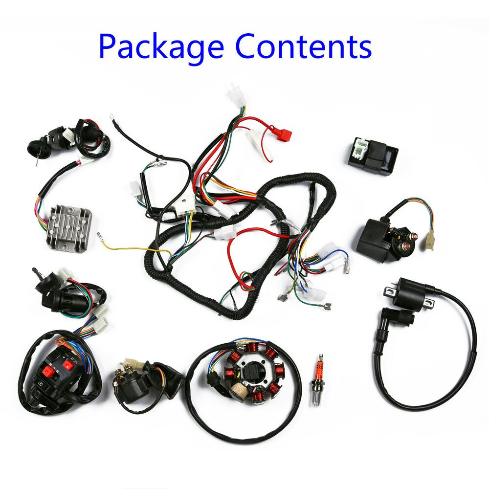 wiring harness kit for atv ebay advertisement  full electro wiring harness wire loom cdi  full electro wiring harness wire loom