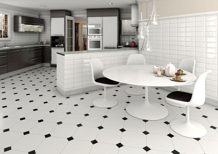 Carrelage noir et blanc très chic : des idées originales à en être ...