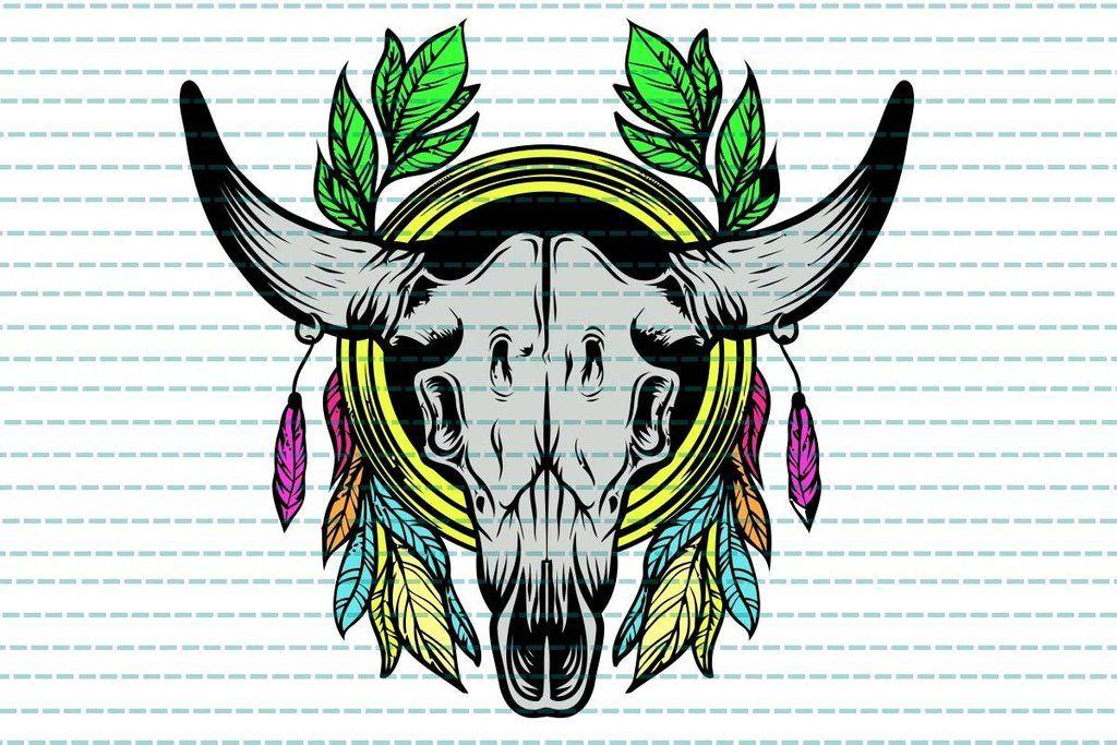 Cow skull hippie bull dream catcher, cow skull, cow skull