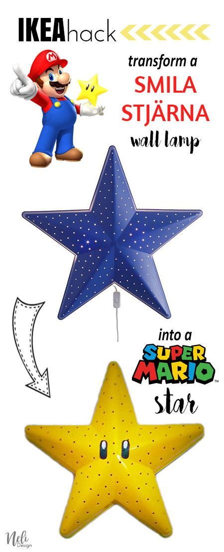 Make A Super Mario Bros Star Wall Lamp Deco Mario Pinterest