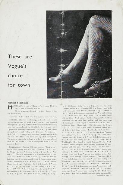 Free 1940s Knitting Fishnet Stockings Pattern Free Pattern