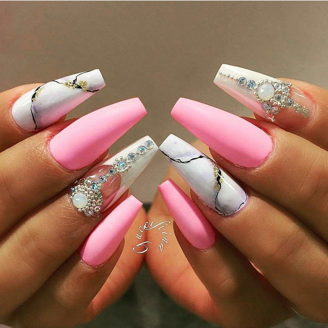 Marble Nail Art Ballerina Nails Cute Nails Ballerina Nails Designs