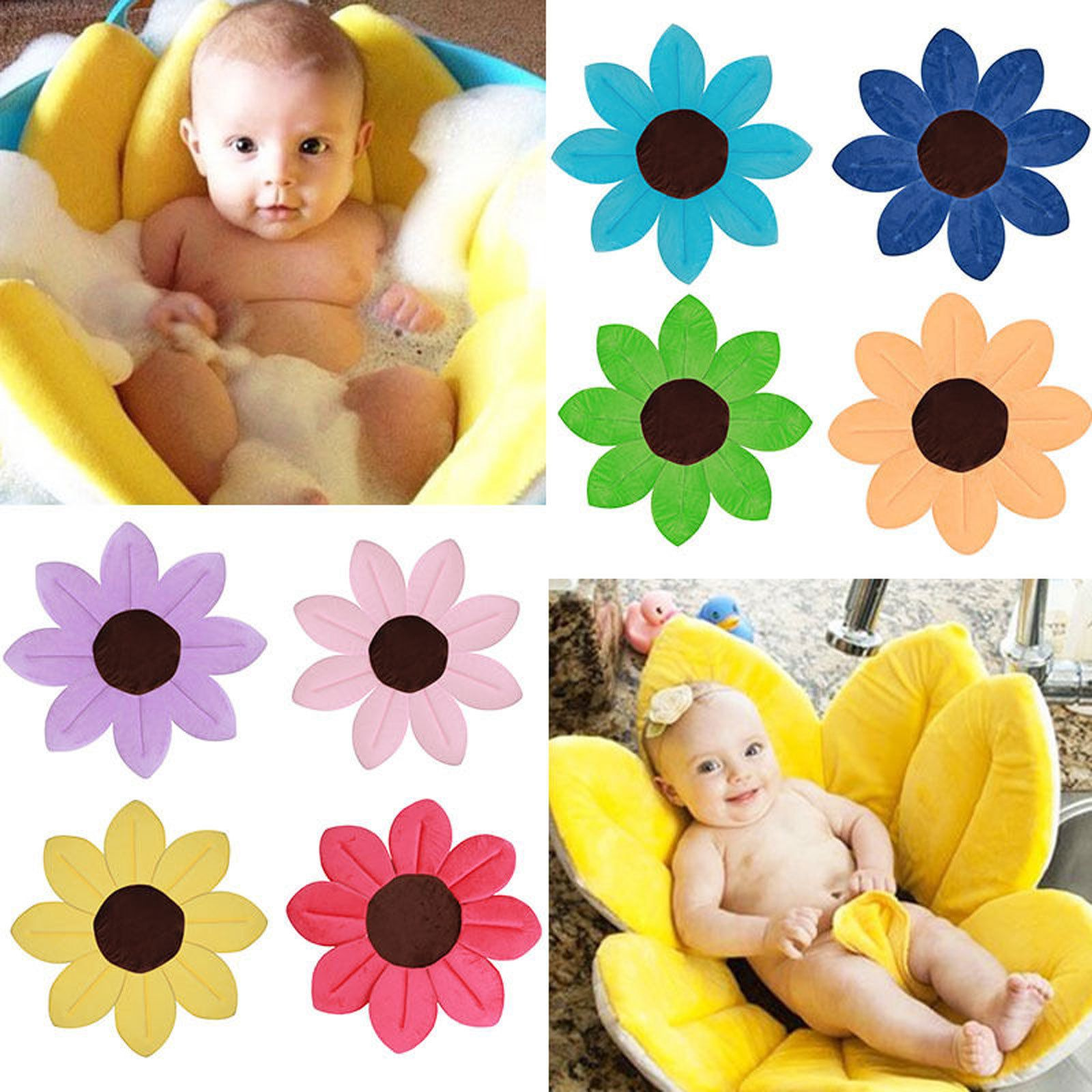 New Baby Super Soft Bath Mat Cute Flower Shape Plush Lotus Baby ...