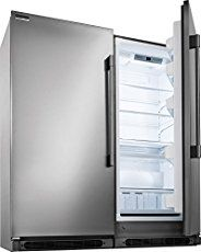 The Mammoth 64 Inch All Refrigerator All Freezer Combo From Electrolux Icon Professional Series Frigidaire Professional All Refrigerator Built In Refrigerator