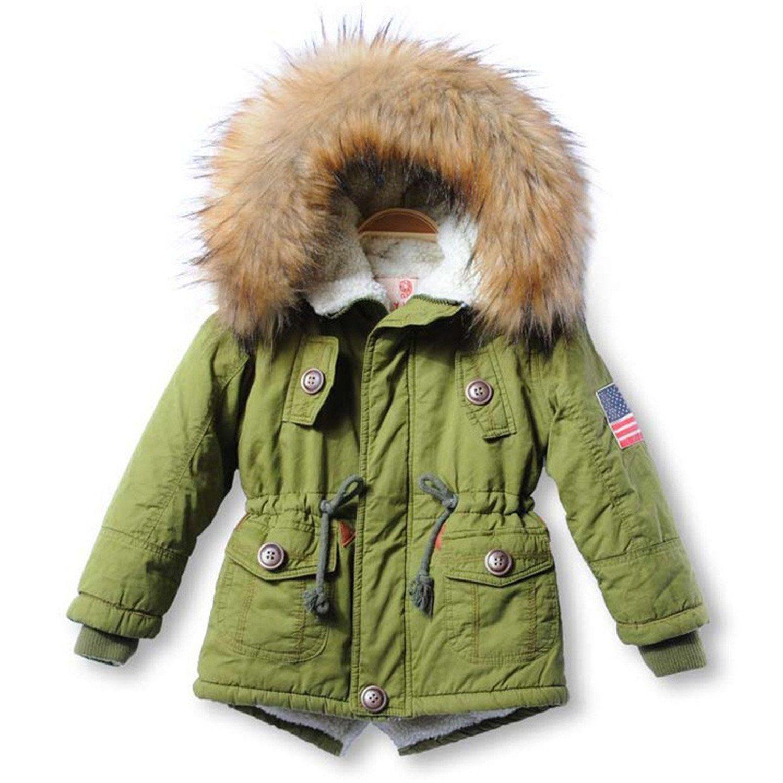fec2c9d9b7b2 Mofgr Thick Winter Children Jackets Girls Boys Coats Hooded Faux Fur Collar  Kids Outerwear Padded Snowsuit
