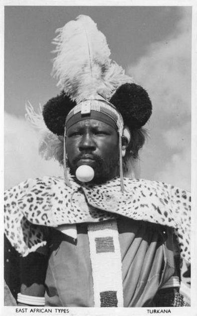 Africa | East Africa Types; Turkana. (now Kenya) || Scanned vintage postcard; published by Pegas Ltd.