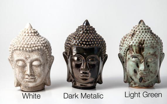 Multicolor  Buddha  Head Statue, Ceramic Buddha, Buddha Home Decor, Buddha Bust, Buddha Face, Asian #buddhadecor