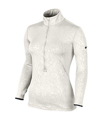 259f6edfe7f NIKE Nike Women S Pro Hyperwarm Embossed Vixen Half-Zip Training Top Ivory.   nike  cloth
