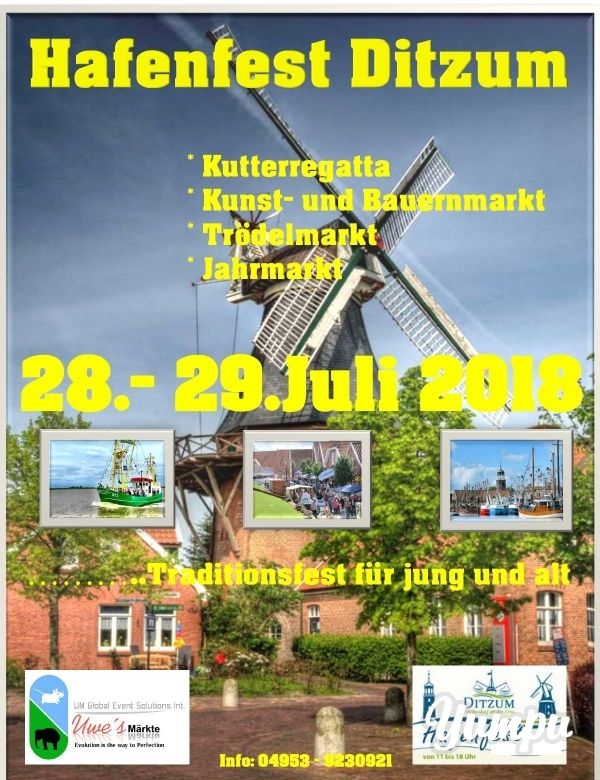 Ditzum Hafenfest Magazine With 1 Pages Ostfriesland In 2019