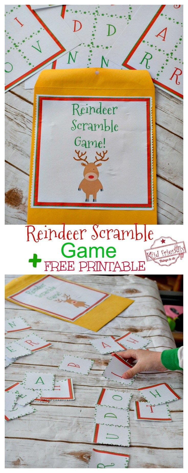 The Reindeer Scramble Game - A Fun Christmas Party Game! Plus FREE ...
