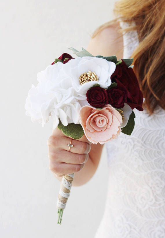 Custom Wedding Bouquet Do Not Order Build Your Own Felt Flower