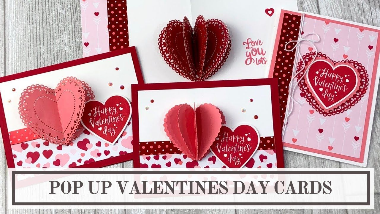 Valentines Day Pop Up Card Tutorial 3d Heart Youtube Pop Up Valentine Cards Valentine Day Cards Heart Pop Up Card