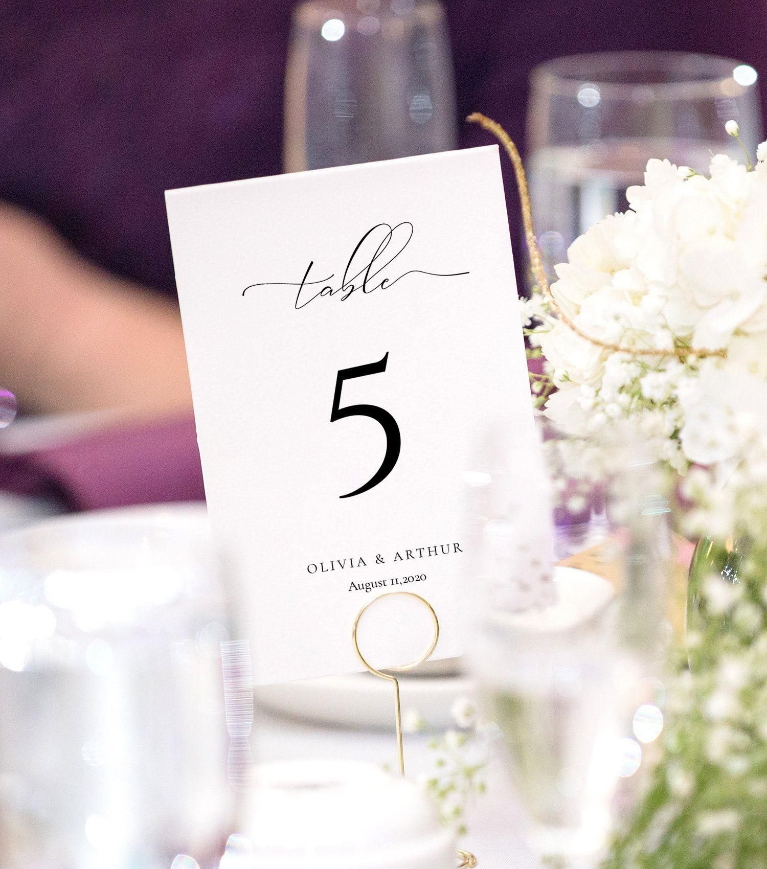 Script Elegance Wedding Table Number Template Calligraphy Etsy In 2021 Wedding Table Numbers Template Wedding Table Numbers Card Table Wedding