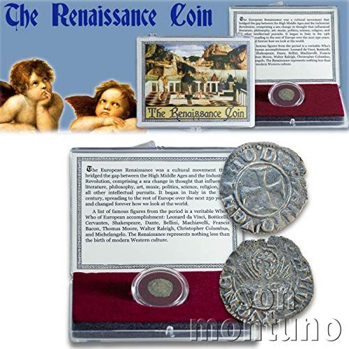 Photo of THE RENAISSANCE COIN – Medieval European Coin in Clear Display Box with Story Card & Certificate of Authenticity – Venice Italy Italian Antique Coin