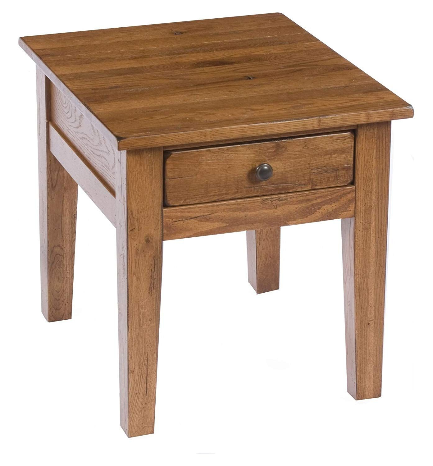 Broyhill 3397 02sv Attic Heirlooms End Table Brown Leather