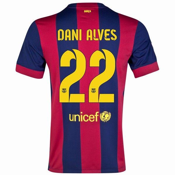 759e024859a Daniel Alves  22 Barcelona 15 16 Home Jersey