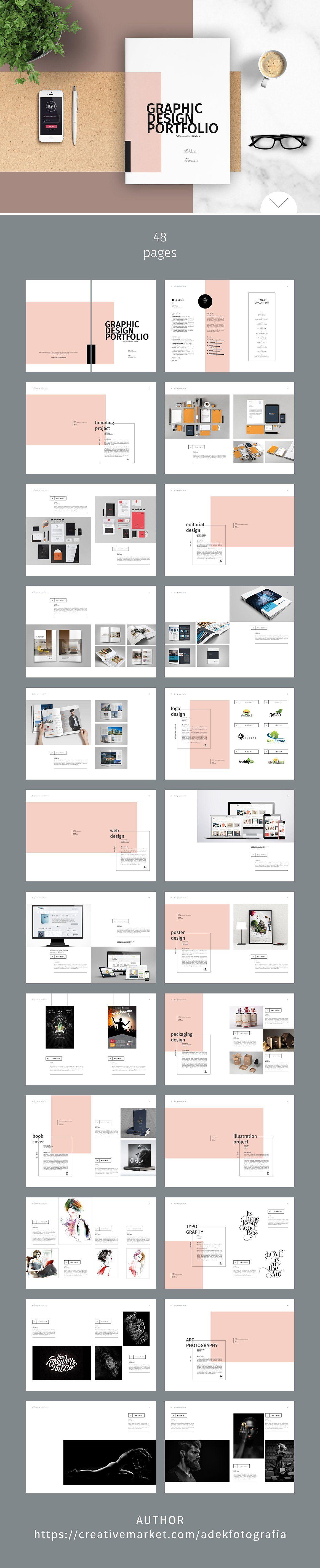 Graphic Design Portfolio Template With Images Portfolio