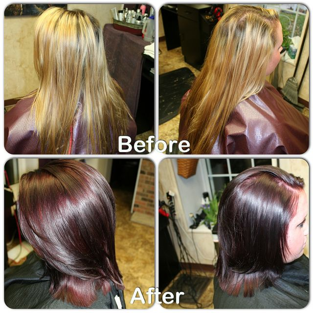 Kenra Fall Color Before And After Filled With Demi 6c6n Then
