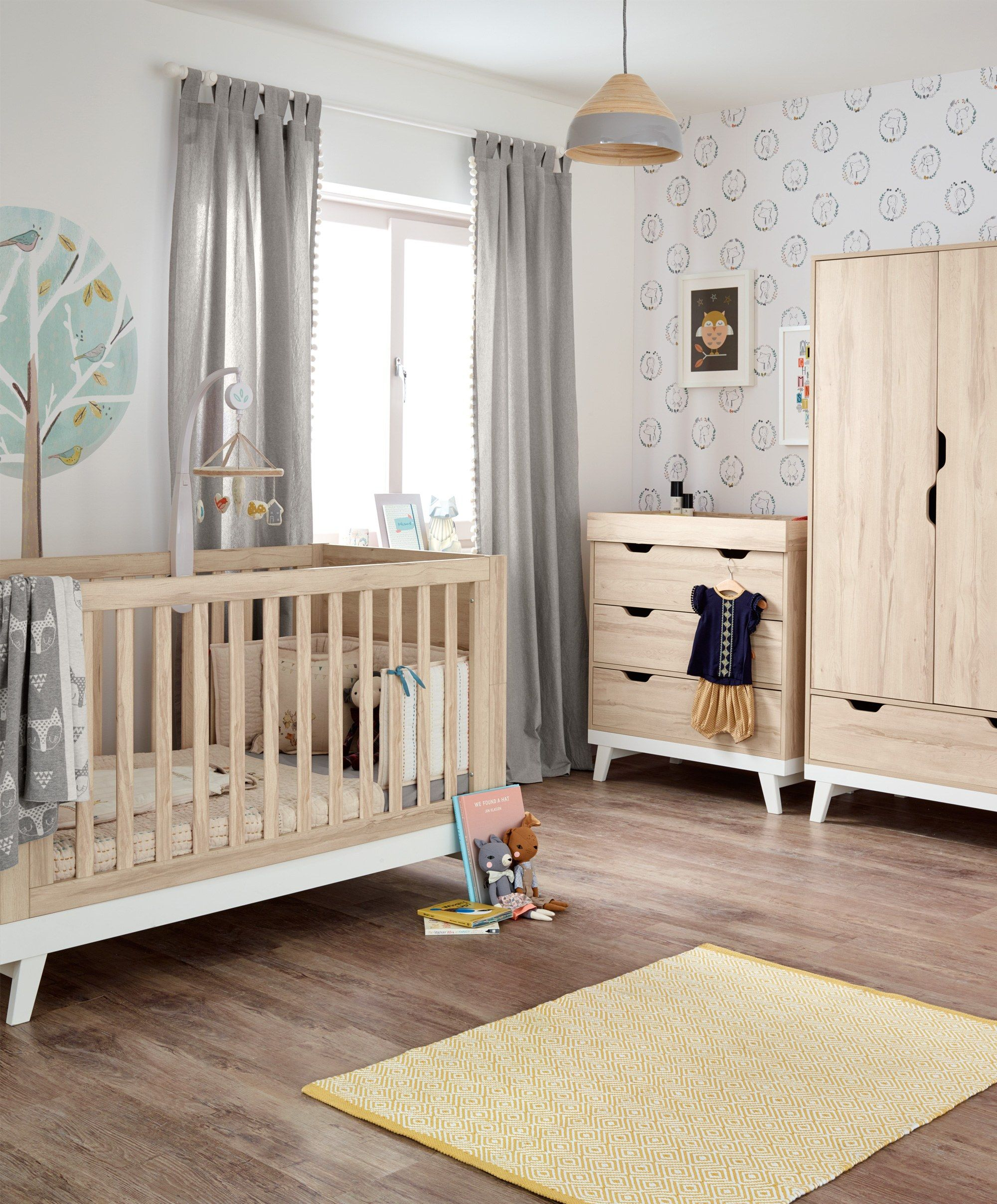 Lawson 3 Piece Nursery Furniture Set with Cot to Toddler Bed ...