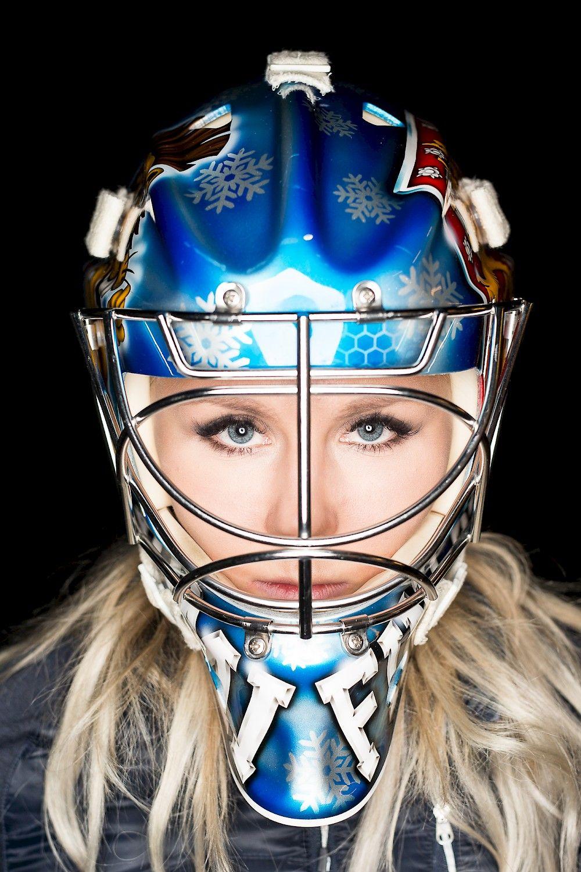 Game Face Meeri Räisänen Finnish ice hockey goaltender