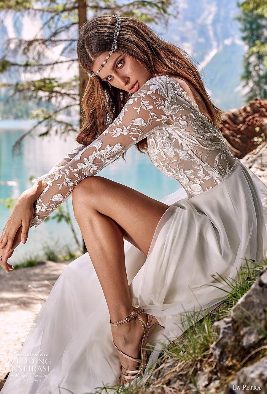 La Petra 2020 Wedding Dresses Aquamarine Bridal Collection Wedding Inspirasi Summer Wedding Dress Wedding Gown Inspiration Chiffon Wedding Dress [ 1326 x 900 Pixel ]