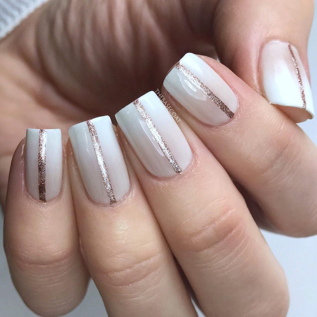 Simple nude to white gradient with rose gold lines inspired by ...