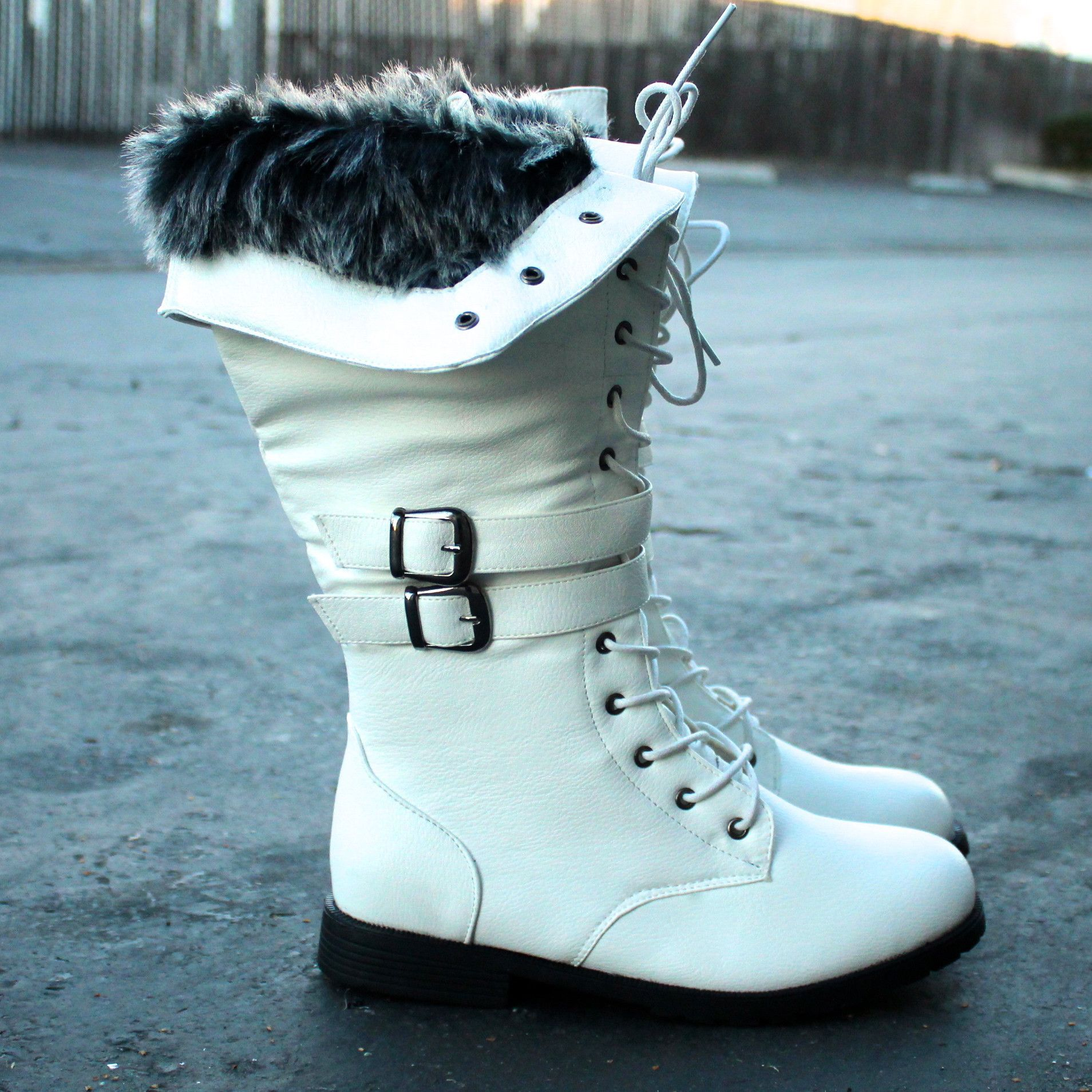 white wonderland boots with fur shophearts Boots, Fur