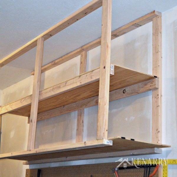 Diy Garage Storage Ceiling Mounted Shelves Garage Storage