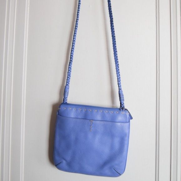 """Sigrid Olsen Baby Blue Leather Bag Gorgeous baby blue leather crossbody bag by Sigrid Olsen. Excellent condition. Measures 9"""" x 8"""" with 23"""" strap drop. Sigrid Olsen Bags Crossbody Bags"""