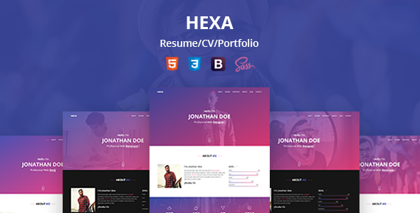 Hexa personal resumecvportfolio html template virtual business hexa personal resumecvportfolio html template virtual business card personal fbccfo