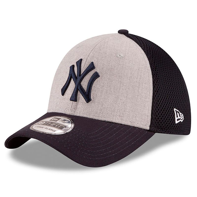 a039f9f5939 New York Yankees New Era Neo 39THIRTY Flex Hat - Heathered Gray Navy ...