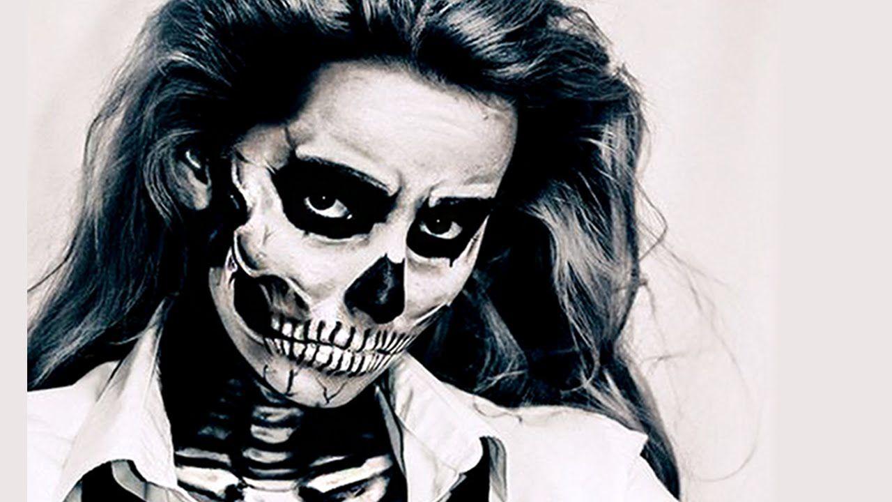 2019 year for women- Gaga lady inspired halloween skull makeup tutorial