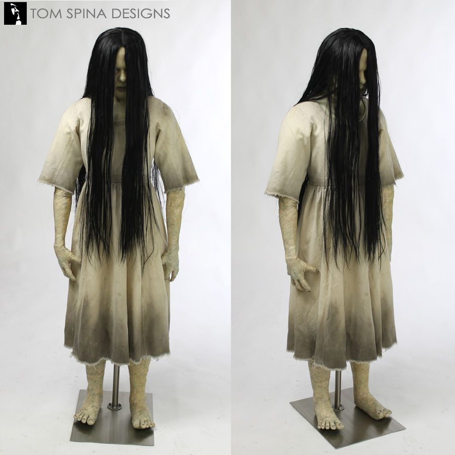Photos of our life sized custom mannequin to display and preserve a screen  used The Ring Samara costume from the 2002 horror film. 6633952cdb8f6